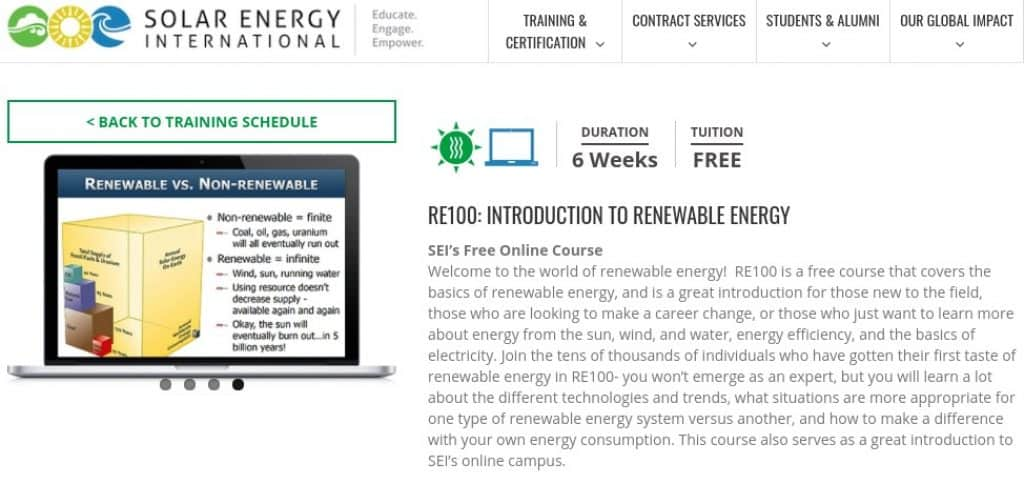 SEI Introduction to Renewable Energy